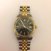 Rolex Datejust 16013 Steel/Gold 1986 Black Dial 36 mm