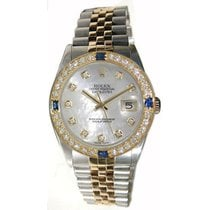 Rolex Men's Model 16233 Steel and Gold Jubilee Band with...
