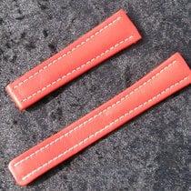 Breitling Kalbsarmband 19/16mm Rot Red Roja Für Faltschliesse