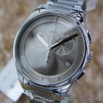 ck Calvin Klein Swiss Made Mens Chronograph 44mm Stainless...