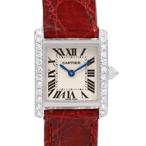 Cartier Tank Francaise 18k White Gold Diamond Ladies Watch...
