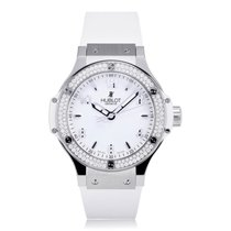 Hublot Big Bang 38mm Steel White Diamond Ladies Watch 361.SE.2...