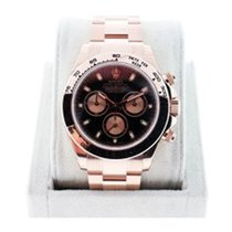 Rolex Daytona 116505 Everose Black Dial Mens Watch