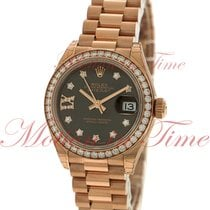 Rolex Datejust Ladies 28mm President, Chocolate Diamond Dial,...