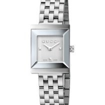 Gucci G-Frame Silver Guilloche Dial 19mm YA128402 T