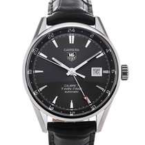 TAG Heuer Carrera Twin-Time Automatic 41 Anthracite Dial...
