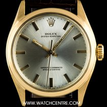 Rolex 18k Y/G Semi Bubble Back Oyster Perpetual Vintage 6084