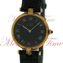 Cartier Must 21 Large Vintage, Black Dial - Yellow Gold Plated...