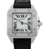 Certified Pre-Owned Cartier Santos Triple 100 Mens Manually...