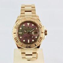 롤렉스 (Rolex) Yachtmaster 16628 18K Gold 40mm Black Mother Of...