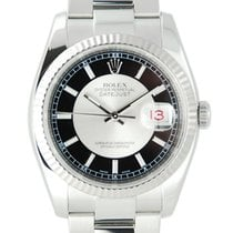 Rolex DateJust Stainless Steel Tuxedo Dial w/Box + Papers -116234