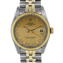 Rolex Date 1505 Rare Midsize Two Tone Mens Watch