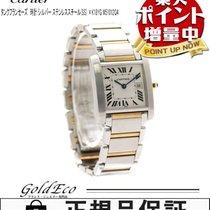 Cartier 【カルティエ】 タンクフランセーズMM クォーツ 腕時計W51012Q4  ボーイズ ホワイト文字盤SS×Y...