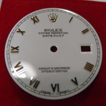 Rolex Date-Just Dial Glossy White Gold Roman Numerals