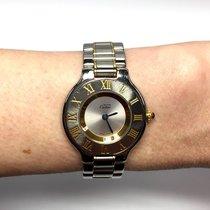 Cartier 21 Luxury 2 Tone Ladies Watch, Water Resistant In Box