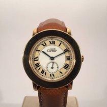 Cartier Must de Cartier Vermeil Ronde II Argent Plaque Or 1810