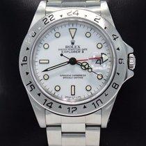 Rolex Explorer II 16570 Gmt Very Rare Polar White Dial...
