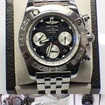 Breitling Chronomat 44 Ab0110 Stainless Steel Black Dial Nice...