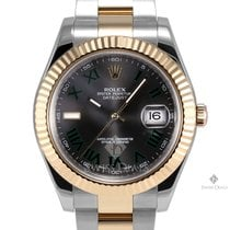 Rolex Datejust II Steel and Gold Gray Green Roman Numeral Dial...