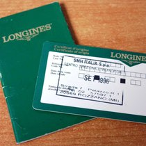 Longines vintage warranty watch or chronograph  papers and...