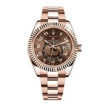 Rolex Sky Dweller Rose Gold Chocolate Dial 42mm