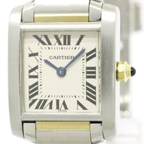 Cartier Polished Cartier Tank Francaise 18k Gold Steel Ladies...