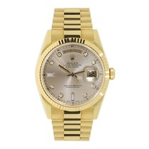 Ρολεξ (Rolex) DAY-DATE 36mm 18K Yellow Gold President Diamond...