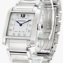 Cartier WE110007 Tank Francaise 11 DIA Silver Dial Women's...
