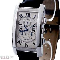 Cartier Tank Americane Chronoflex Ref- W2603356 18k White Gold...