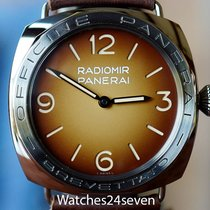 Panerai PAM 687 Radiomir Gold & Brown Dial 3 Days Accaiao...