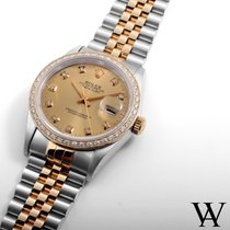 Rolex 18K/SS Datejust Champagne Diamond Dial & Bezel...