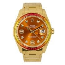Rolex Datejust Pearlmaster 39 Yellow Gold Sapphire Bezel
