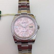 Rolex Datejust Edelstahl Weißgold 36 Oyster Diamant Lünette...