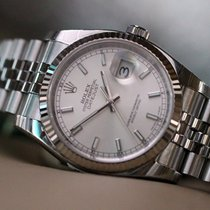 Rolex OYSTER PERPETUAL DATEJUST 36mm silver dial