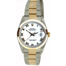 Rolex Men's Model 16203 Steel and Gold Oyster Band with...