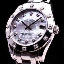 Rolex Datejust Pearlmaster 34 18kt.Weissgold Service 2016...
