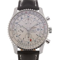 Breitling Navitimer World 46 Chronograph Silver Dial