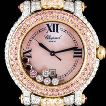 쇼파드 (Chopard) 18k Y/G & 18k W/G Fully Loaded Happy Sport...