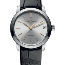 Ulysse Nardin CLASSICO LADY Steel Case Dial Silver Leather...