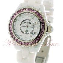 Chanel J12 33mm Quartz, White Diamond Dial, Pink Sapphire...