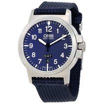 Oris BC3 Advanced Blue Dial Fabric Strap Mens Watch 73576414165FS