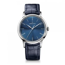 Zenith Elite Automatic Stainless Steel Blue Dial Mens Watch...