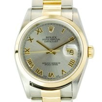 Rolex Datejust Two Tone 18kt Yellow Gold/SS Slate Dial - 16203