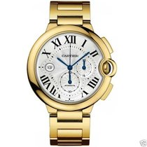 Cartier Ballon Bleu Chronograph w6920008 18kt Yellow Gold...