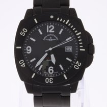 Zeno-Watch Basel Diver Look Blacky Square Watch Quartz NEW