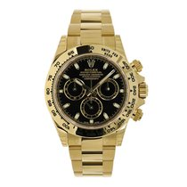 Rolex DAYTONA 18K Yellow Gold Watch Black Dial