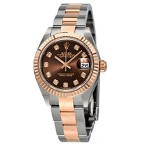 Rolex Lady Datejust 28 Chocolate Diamond Dial Automatic...