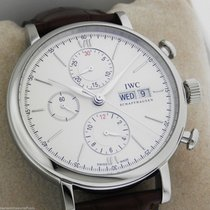 IWC Portofino Chronograph IW391007 New Style Silver Box and...