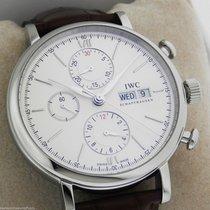 IWC Portofino Chronograph IW391007 New Style Silver Box and...