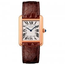 Cartier Tank Solo Pink Gold And Steel Back Quartz W5200024...